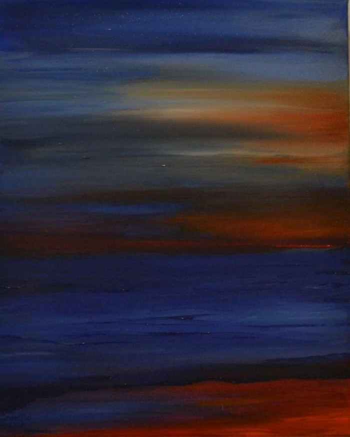 2013, Red blue Sea, 40x50, acrylverf J.Comello
