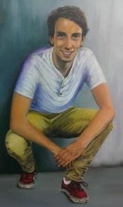 2014, Hugo Wijdeveld, 60x80, acryl en olieverf op linnen, portretopdracht  J. Comello