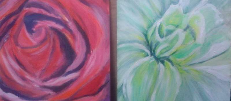 ws Tweeluik bloemen Daphne Bremer